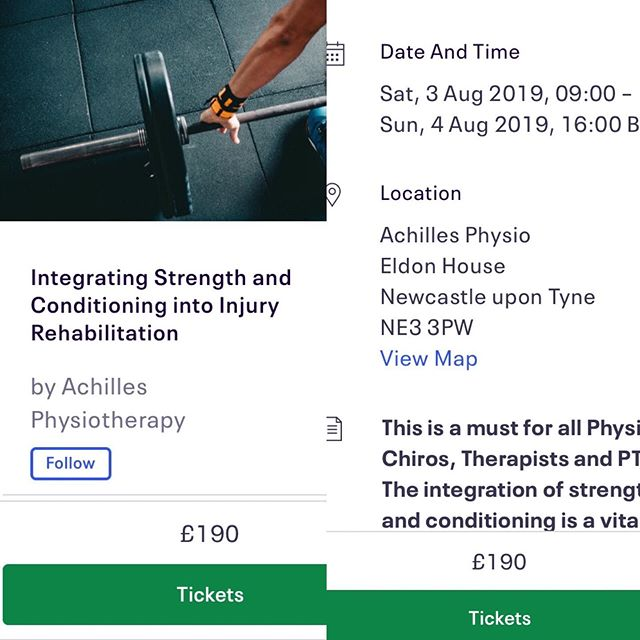 2 day Work shop with the best in the business. #CPD #physiotherapy #physiotherapyclinic #strengthtraining #strengthandconditioning  #osteopath #personaltrainer#acpsem #uksca #northumbriauniversity  Every day is a school day.