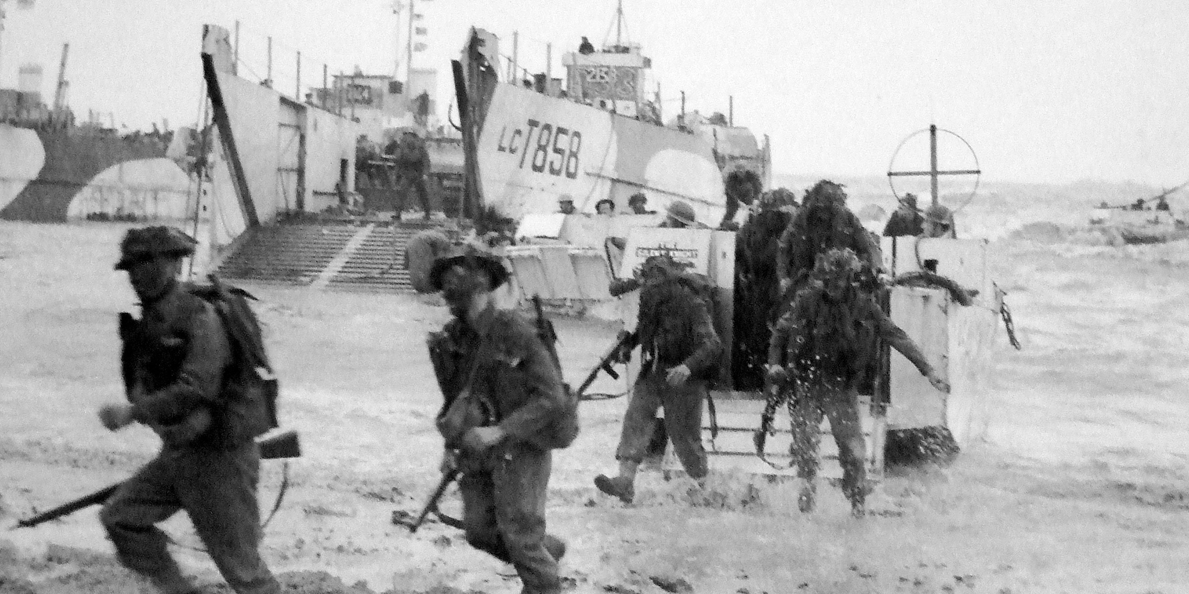 47 (Royal Marine) Commando, landing on Gold Beach, on D-Day