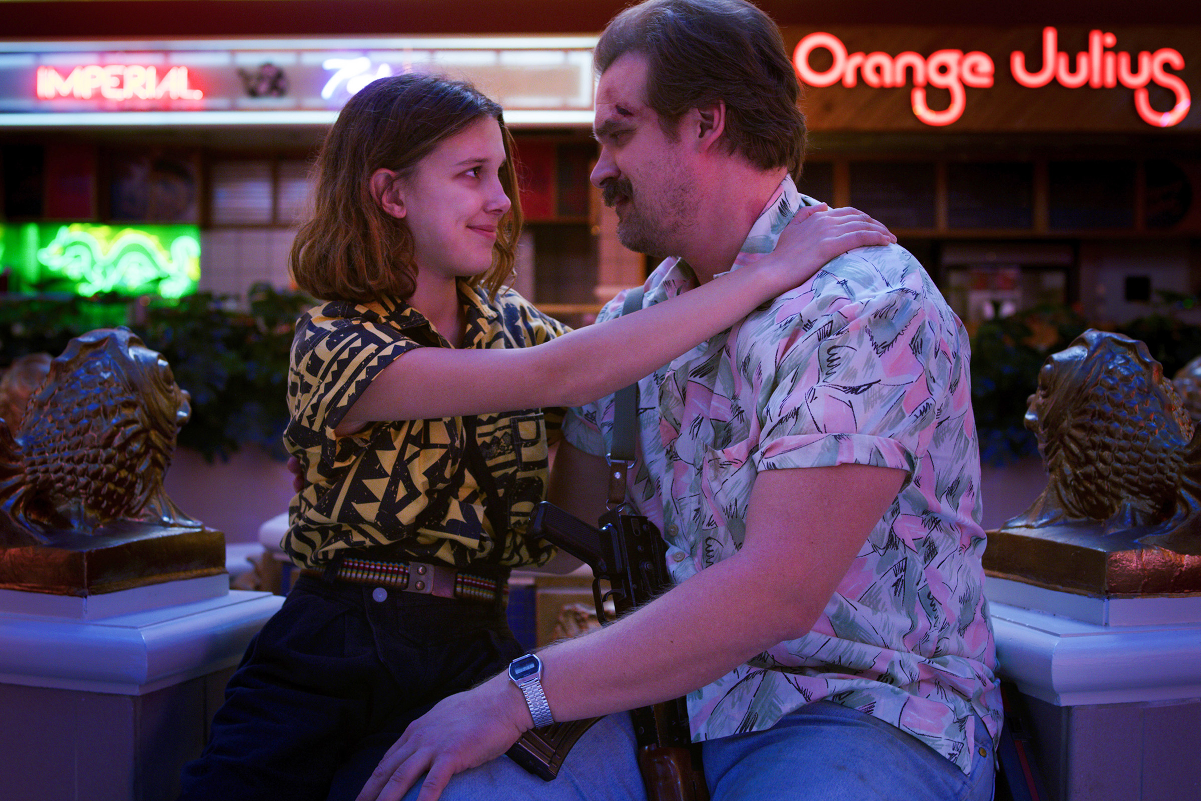 Eleven and Hopper; a complex relationship, forged by circumstances, but held together by love