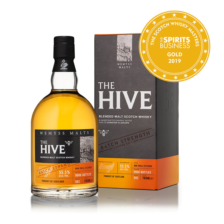 The Hive - Batch No.002 is created from single malts with signature sweet flavours that combines to form complex characters of citrus fruit and sumptuous honey.