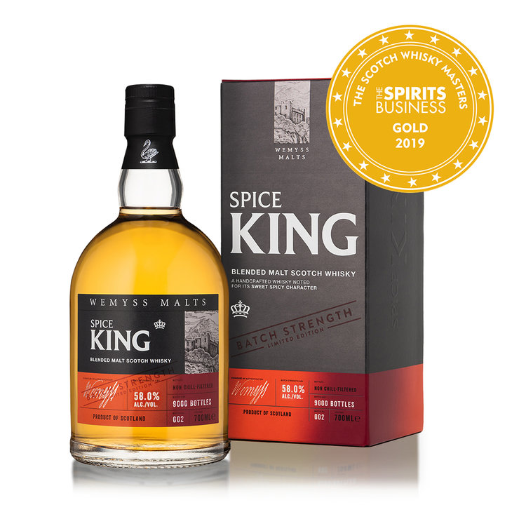 Spice King - Batch No.002 is created from Single Malts with signature spicy flavours that combine rich cereal notes and aromatic spices and a peppery smoke finish.
