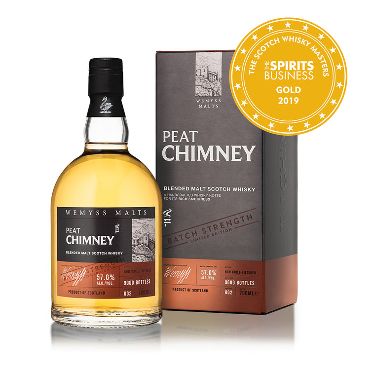 Peat Chimney - Batch No.002 is created from single malts with smoky characters that weave layers of smoke to form an intensely powerful yet sweet finish.