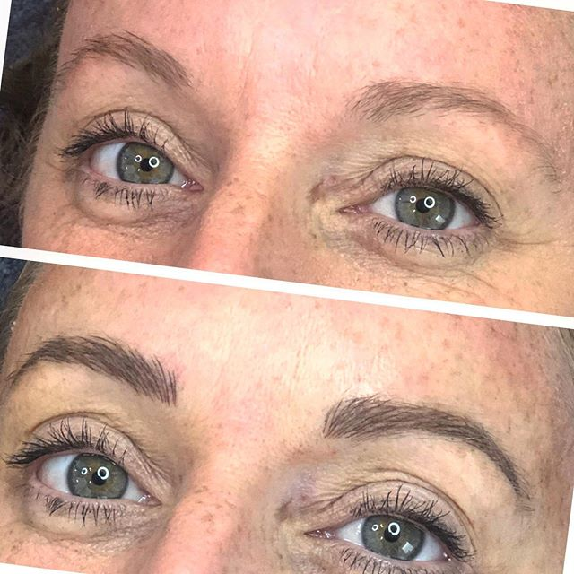 Bold and Beautiful for Emma! • Microblading is a great way to build up those arches again as they are the first thing to start to fade! • Colour and size of brows will soften and settle over the next 6 weeks, then touch up and Bob's your uncle for the next year!(ish) • Everyone's skin and washing routine is different so everyone's brow results and longevity will differ as well.  #realistic #propereducation #realisticexpectations #brows #microblading #yxubrows #ldnont #cocobeautdega