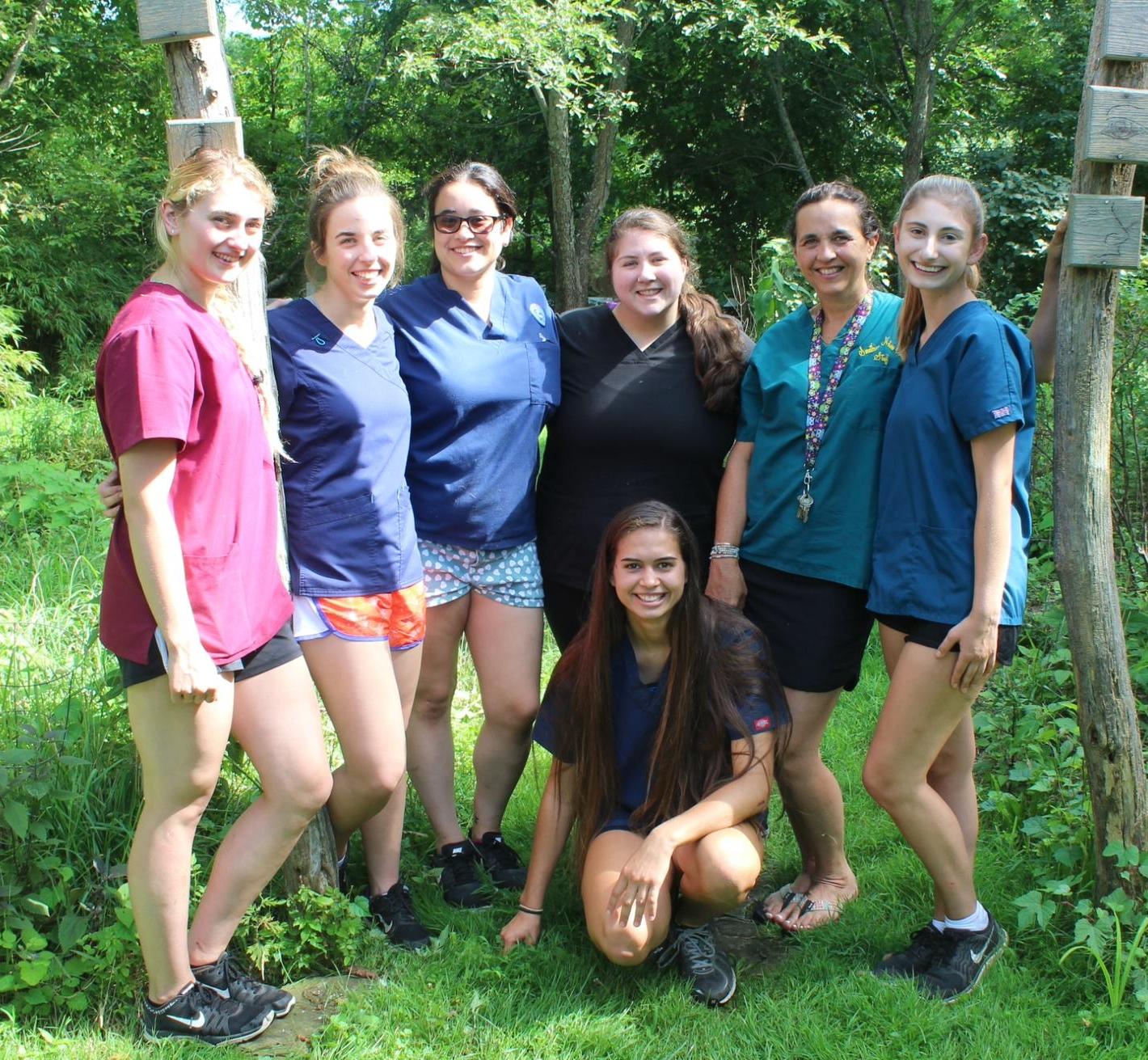 Summer interns for wildlife rehabilitation 2018