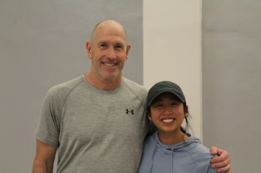 Coaches Kevin Franceschini and Diane Nguyen