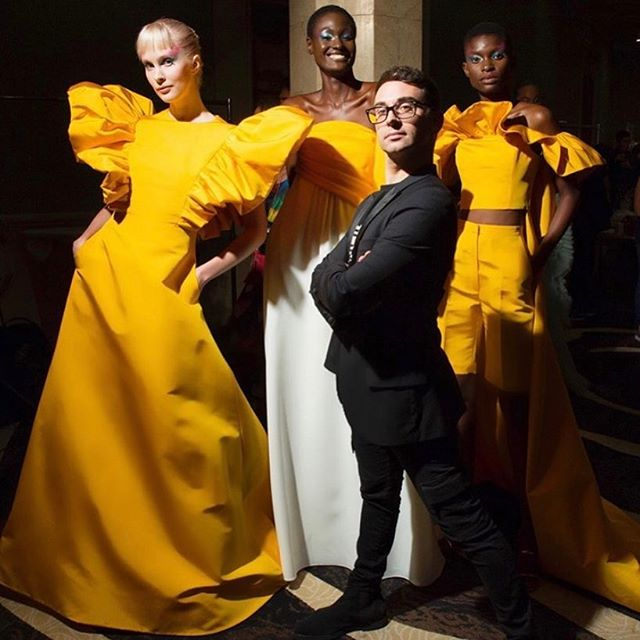 @csiriano we're beyond excited for spring 2020, such an incredible collection of drama, color and artistry. You always know how to put on a show! special shout out to your pop art inspiration @ashleylongshoreart and @jeffkoons. We Can't wait to host you and your collection in Houston next month! . . . #NYFW #Houston #spring2020 #Siriano