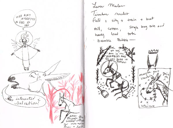 churchgoinmulesketchbook3