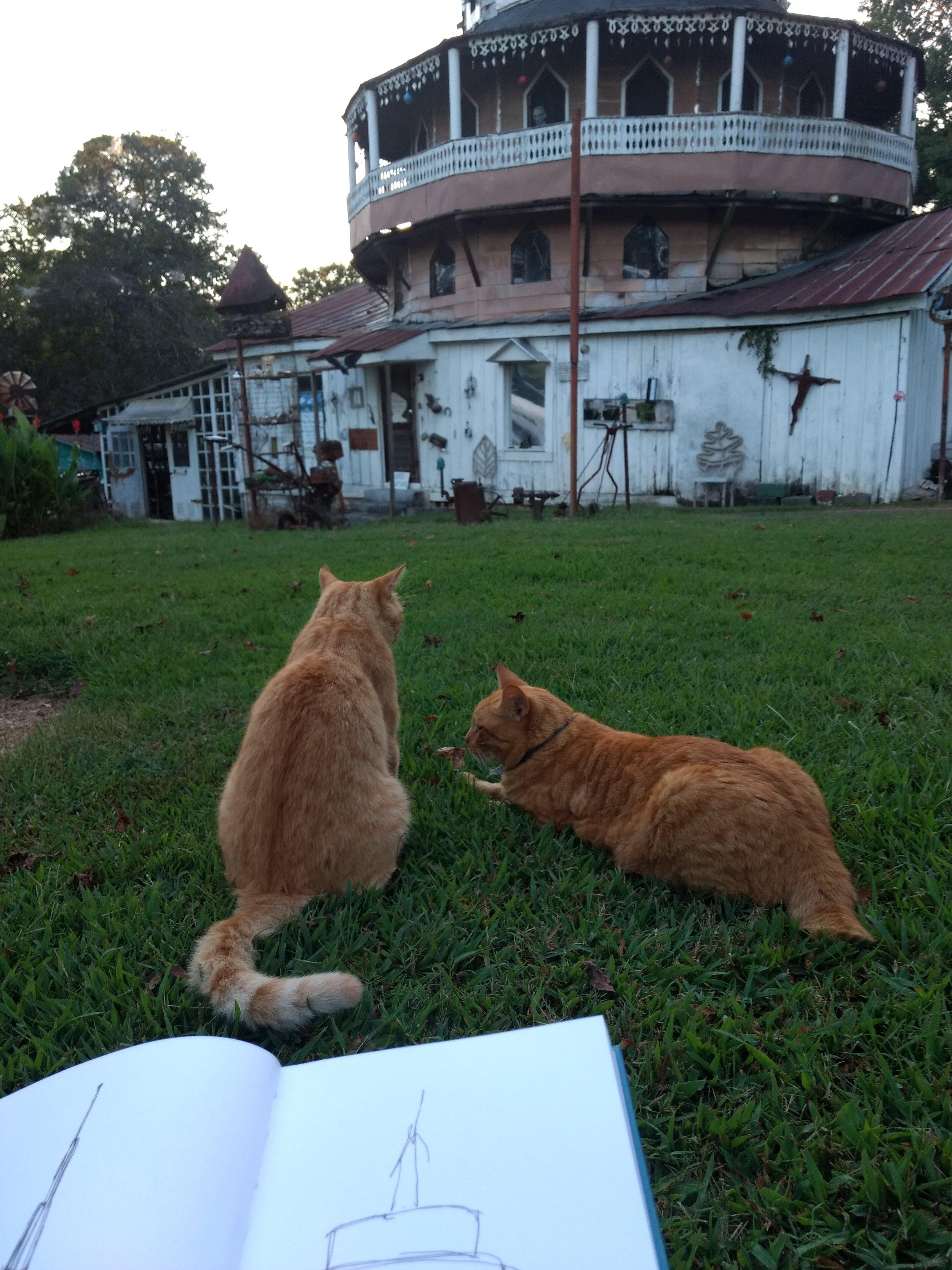 Calvin & Hobbes at Paradise Garden