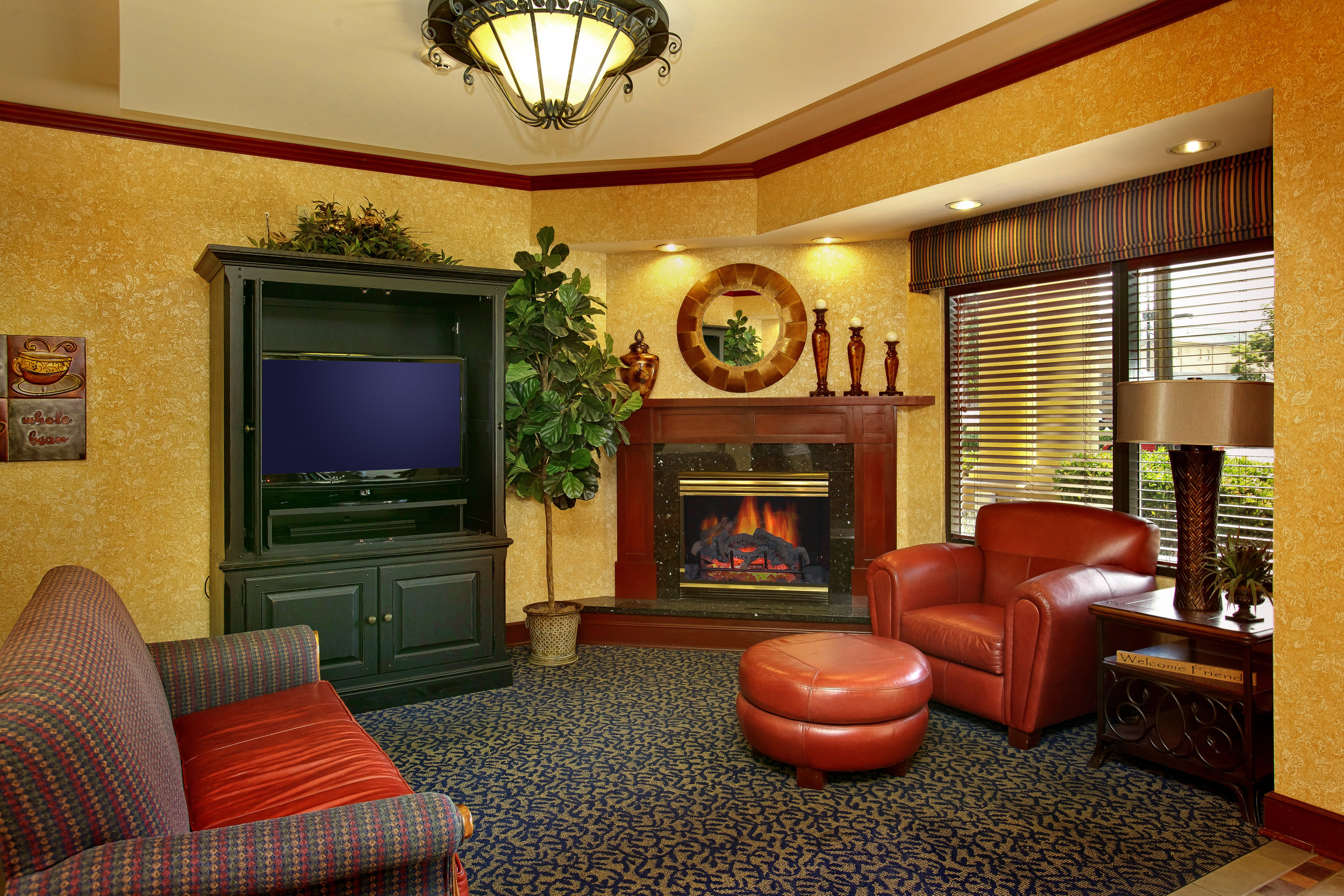 Shular Inn - Breakfast Area - Fireplace Area.jpg