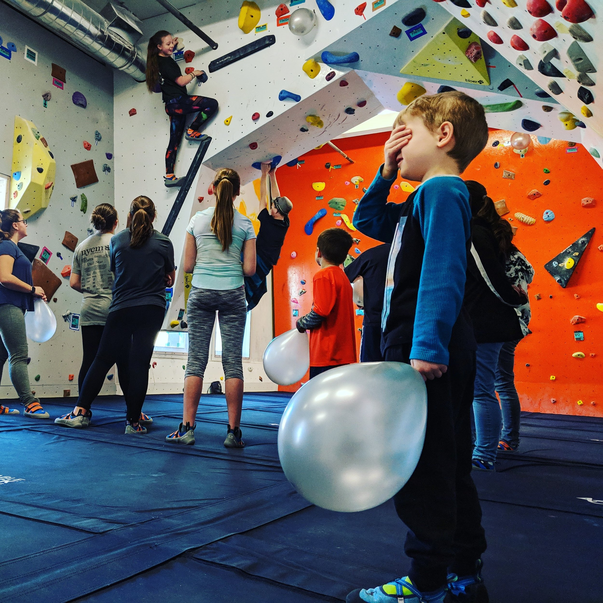 Table Rock Bouldering hosts birthday parties! - Saturdays and Sundays the gym will be available for birthday parties from 11 AM to 1 PM. Parties are packed with fun - 2 hours of climbing, cave exploring, games, and activities. A private party room is available for food, presents, and other party favors. A signed waiver from immediate parent or guardian is required for each child.$150 - For the first 10 children and $5 /each additional children (up to 20). 2 hours of climbing and activities. Children must be accompanied in 5/1 parent ratio. Shoe rentals are included and 2 staff members will be present.A $100 non-refundable deposit is required to reserve.