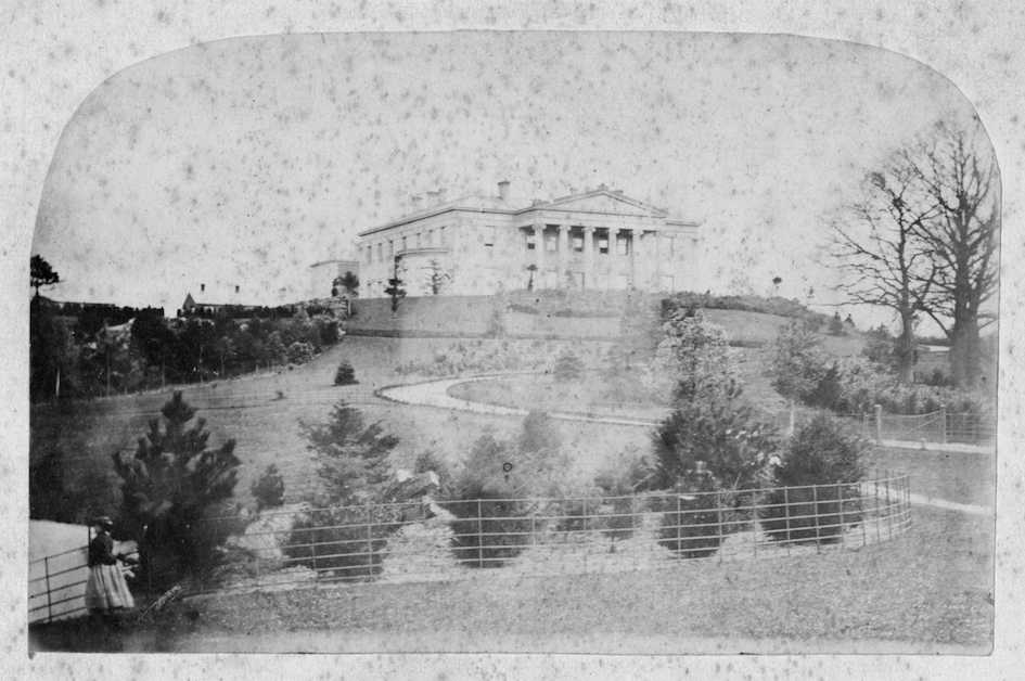 The first known photograph of Whitbourne Hall.