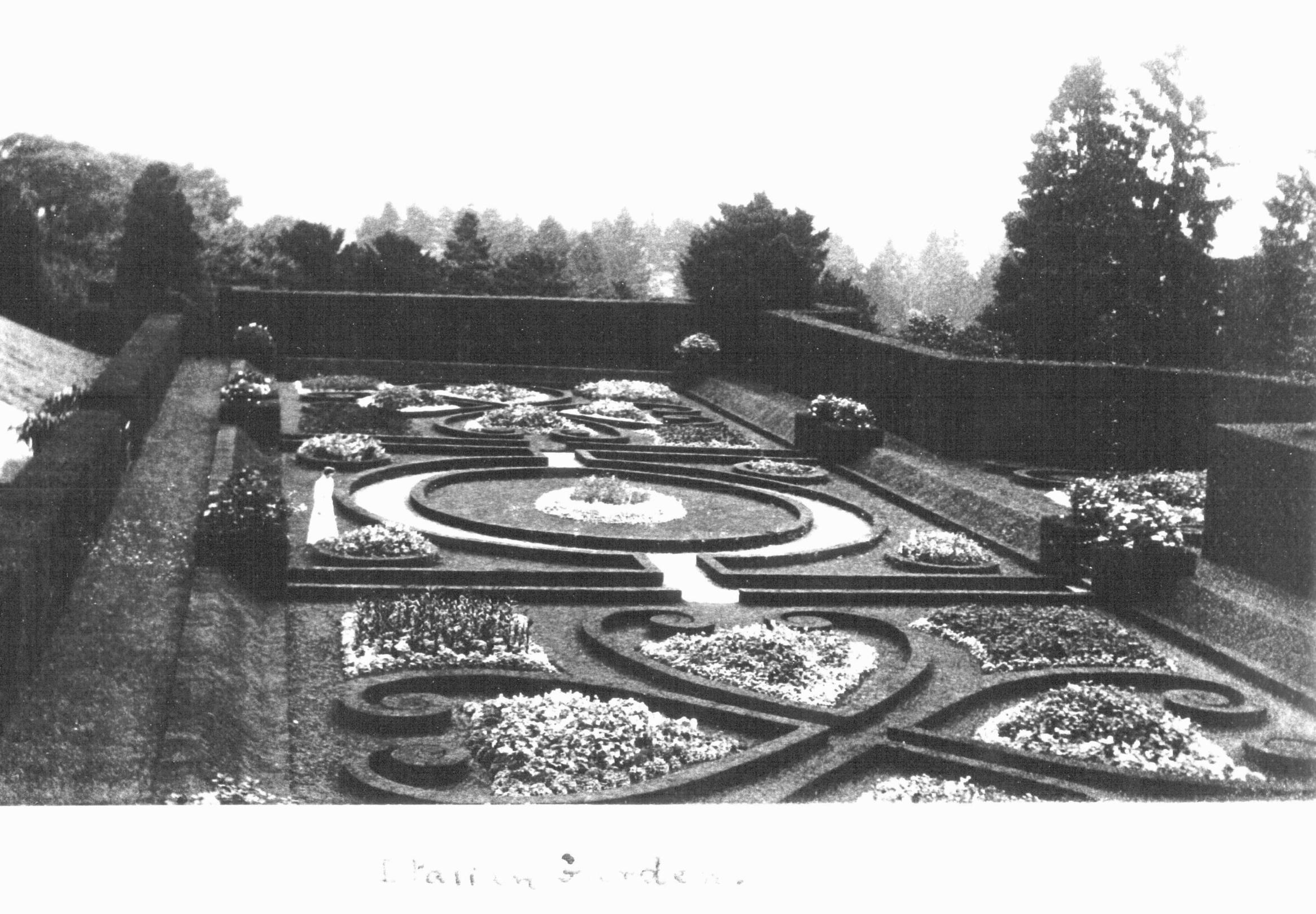 The Italian Garden circa 1910.