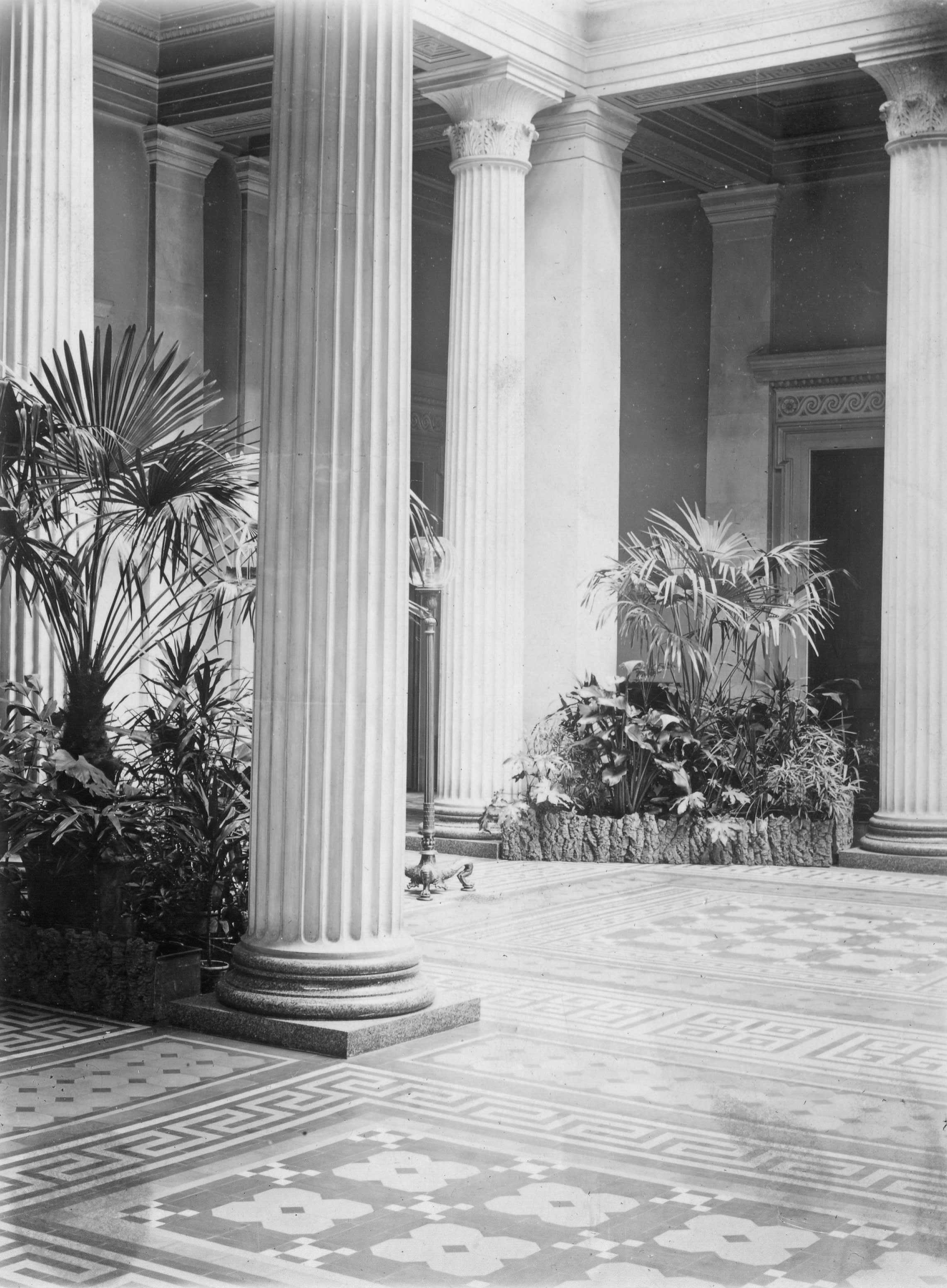 The Atrium at Whitbourne Hall circa 1900 provided by Heather Colley .jpg