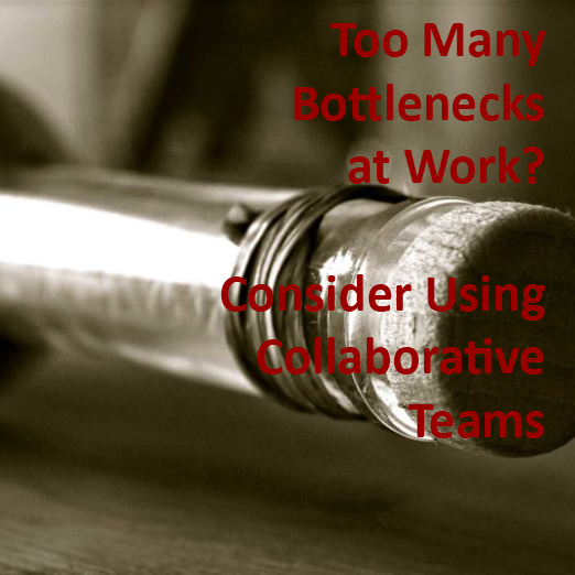Title:   Too Many Bottlenecks at Work? Consider Using Collaborative Teams    Publication:   Training Industry Magazine  , August 2017  This article how hub-and-spoke management policies may have worked in previous generations, but the modern on-demand business culture requires quicker turnaround times and more streamlined decision-making. Published as an article on the Training Industry website.