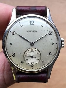 "A vintage Longines dress watch, often called a ""Calatrava""."