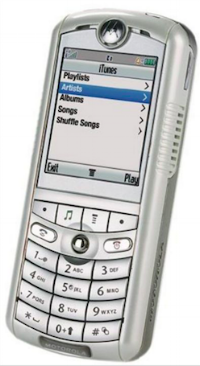 The ROKR was Apple's attempt to build a mobile phone before the iPhone. We've all come a long way.