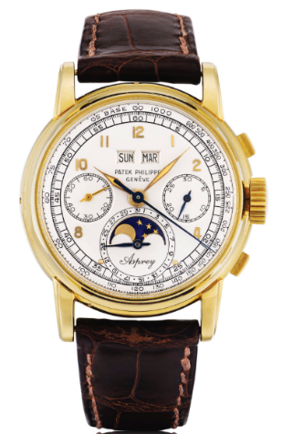A Patek Phillipe Perpetual Calendar Ref. 2499 in yellow gold, with a potentially unique Asprey signature on the date sub dial.