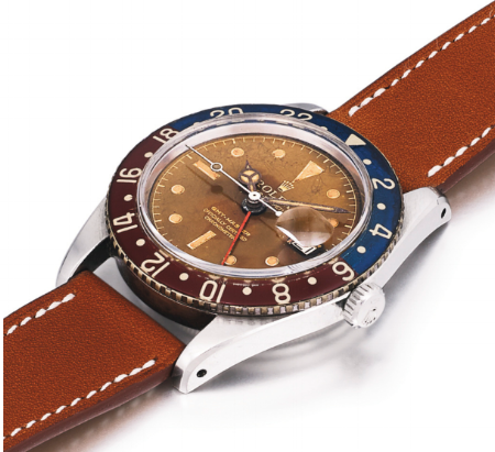 A Rolex GMT-Master Ref. 6542, the first GMT-Master reference.