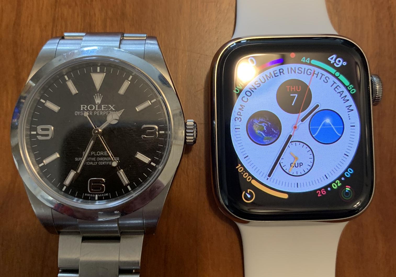 Apple Watch v Rolex
