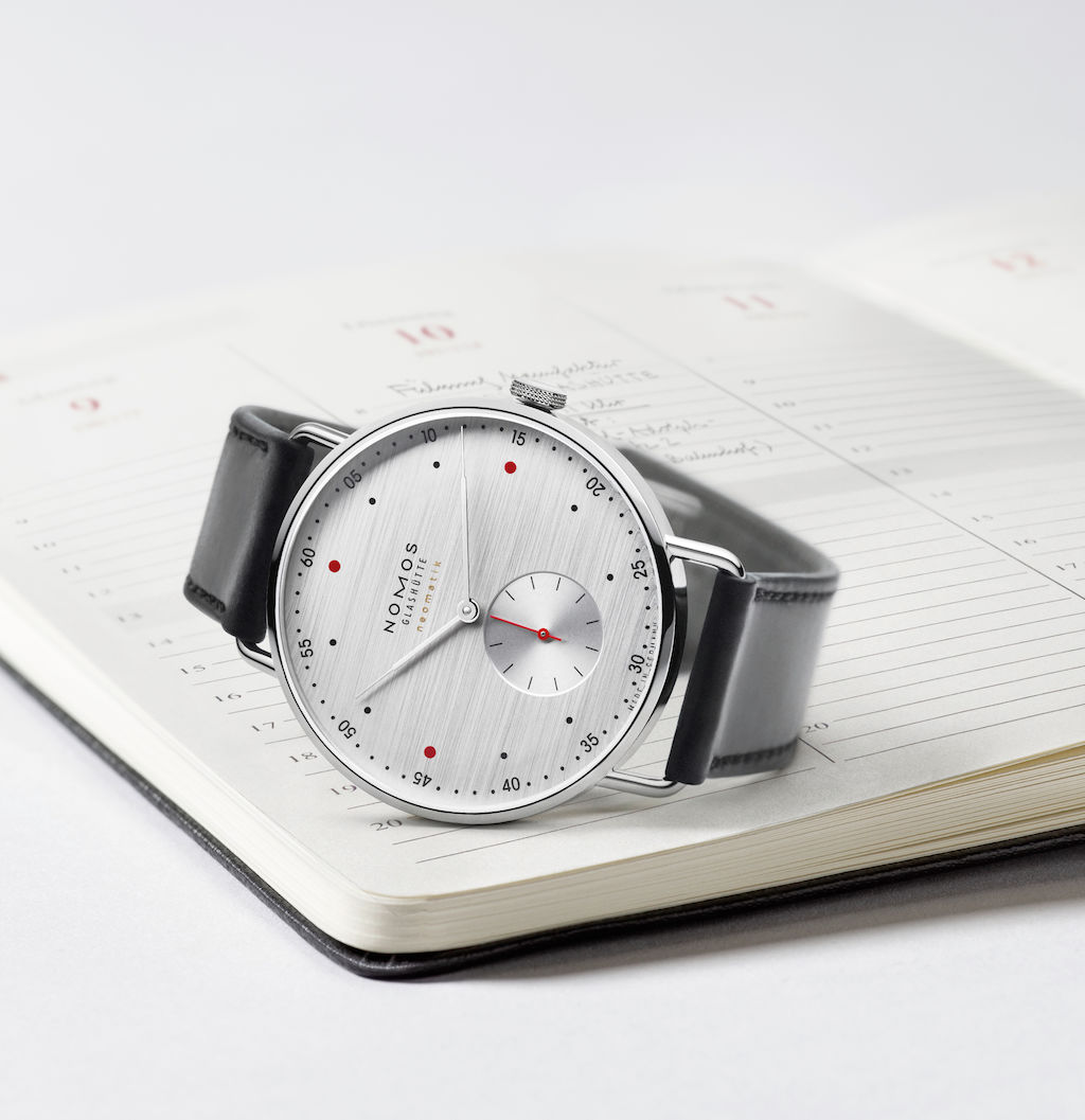 "Nomos Metro Silvercut, from the ""At Work"" collection"