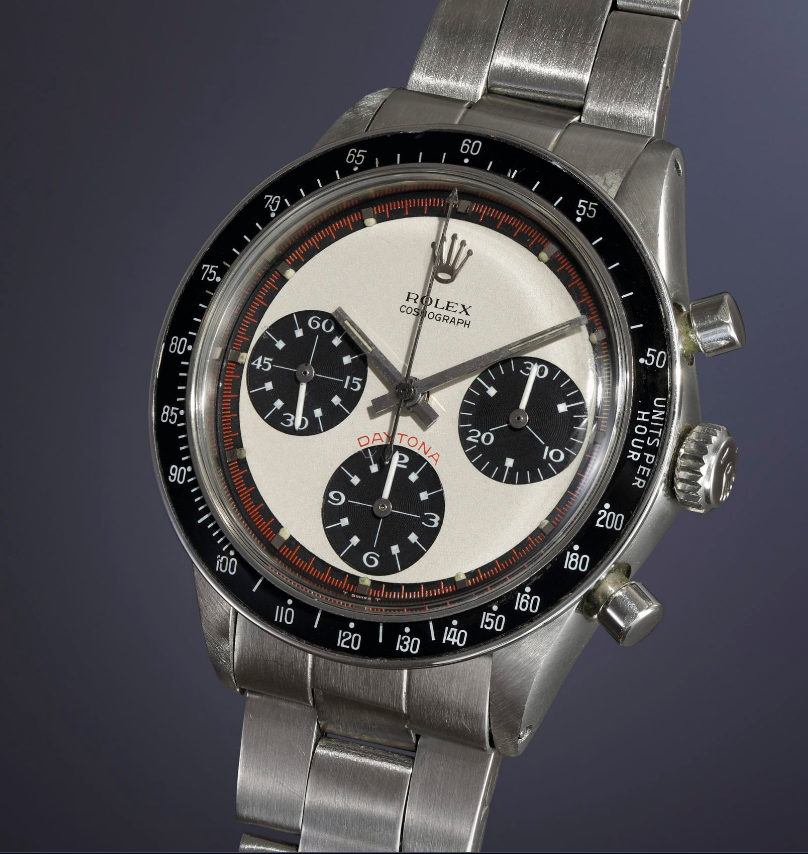 Mayer shows off an amazing example of a Ref. 6264 Paul Newman. Here, one that sold for CHF 179,000 at Phillips in 2016.