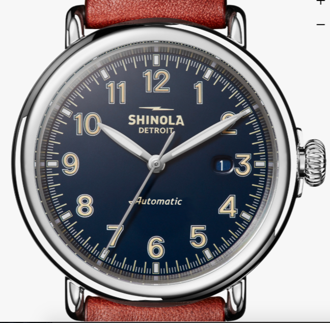 Above: Shinola Runwell Automatic. Below/Right: Shinola Guardian
