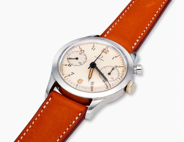 omega single button chronograph