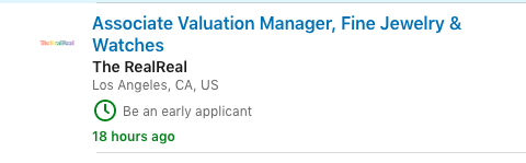 The RealReal is hiring authenticators, valuation analysts, and others to ensure its products are legit by the dozen.