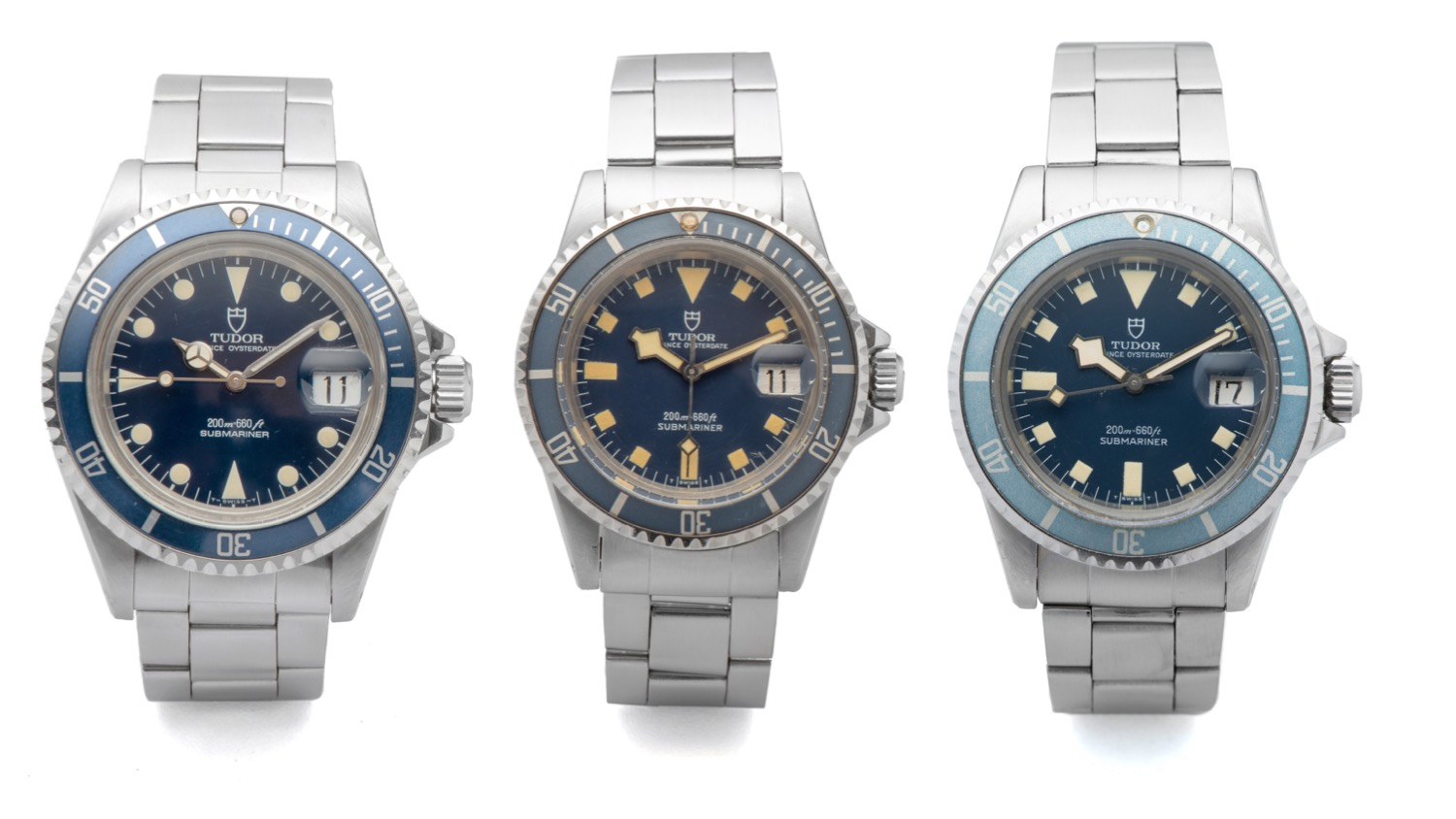 Tudor Submariners Reference 79090, 94110, and 9411/0