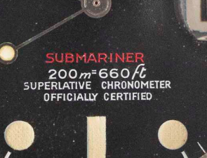 """A Submariner Reference 1680 """"Mark I"""" Dial."""