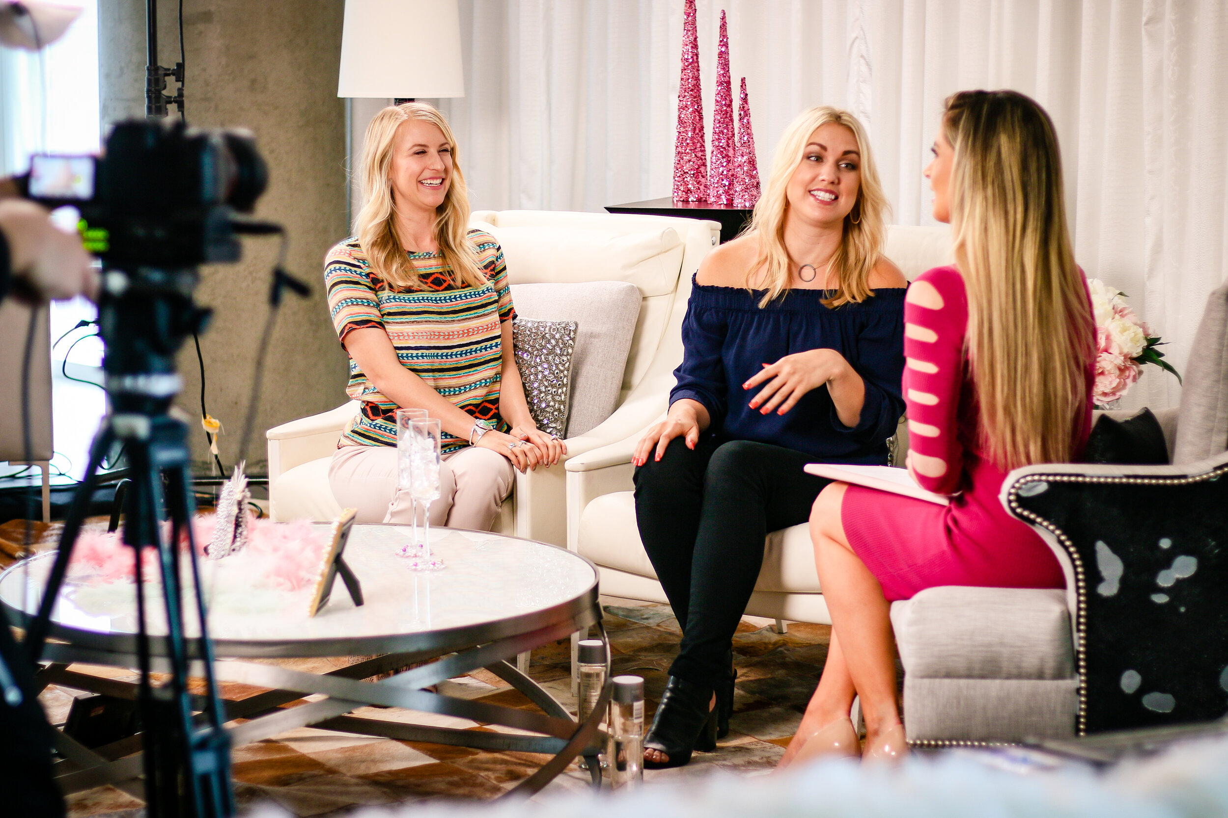 Pictured:  Jacy and Julianne, licensed Professional Counselors, and the creators of  The Everyday Therapy Podcast  on-set at The W Hotel