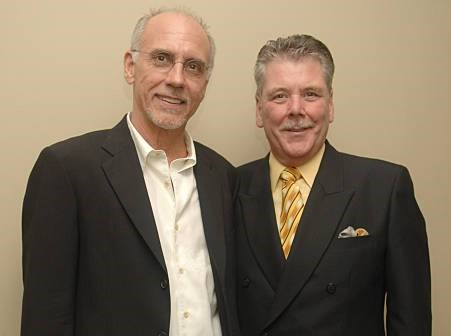 (L-R) - Larry Carlton with Manager Robert Williams
