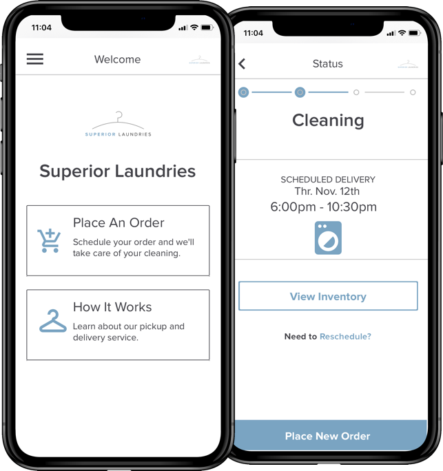 We have an app! - Laundry and dry cleaning at the touch of a button…