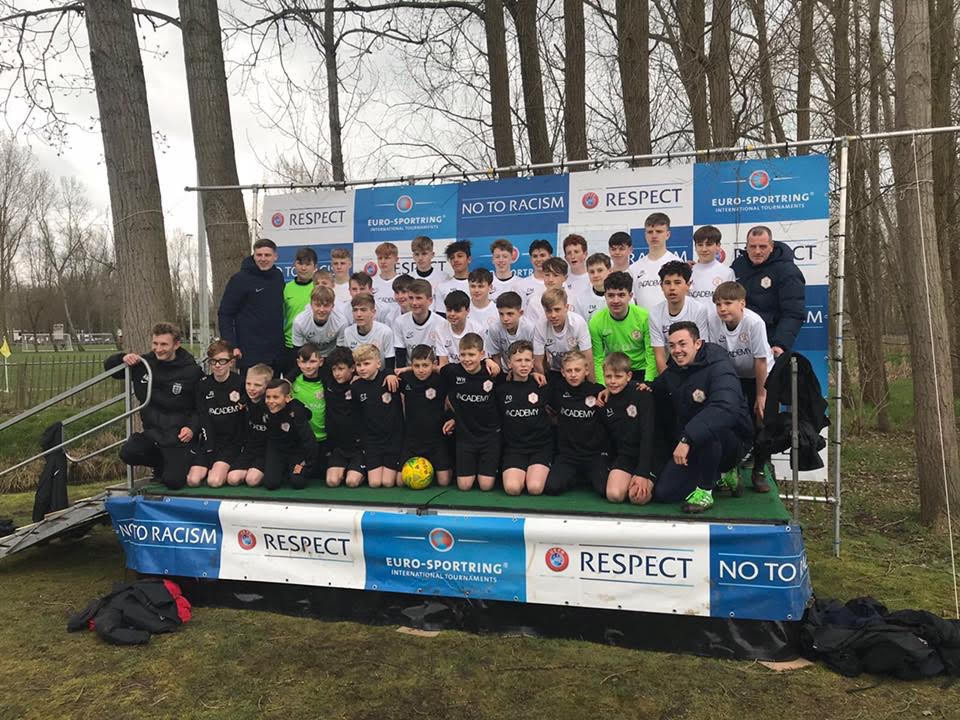 BELGIUM, APRIL 2018 - WE DECIDED TO TAKE OUR U11s, U14s AND U15s. ALL TEAMS WERE UNBEATEN THROUGHOUT THE TOURNAMENT WHICH WAS A GREAT ACHIEVEMENT CONSIDERING PSA WERE THE ONLY ENGLISH TEAM COMPETING. HOWEVER…IN TYPICAL ENGLISH STYLE THE U11s WERE KNOCKED OUT IN THE SEMI-FINAL ON PENALTIES, THE U14s WERE KNOCKED OUT IN THE FINAL ON PENALTIES, AND THE U15s IN THE QUARTER FINALS ON PENALTIES.