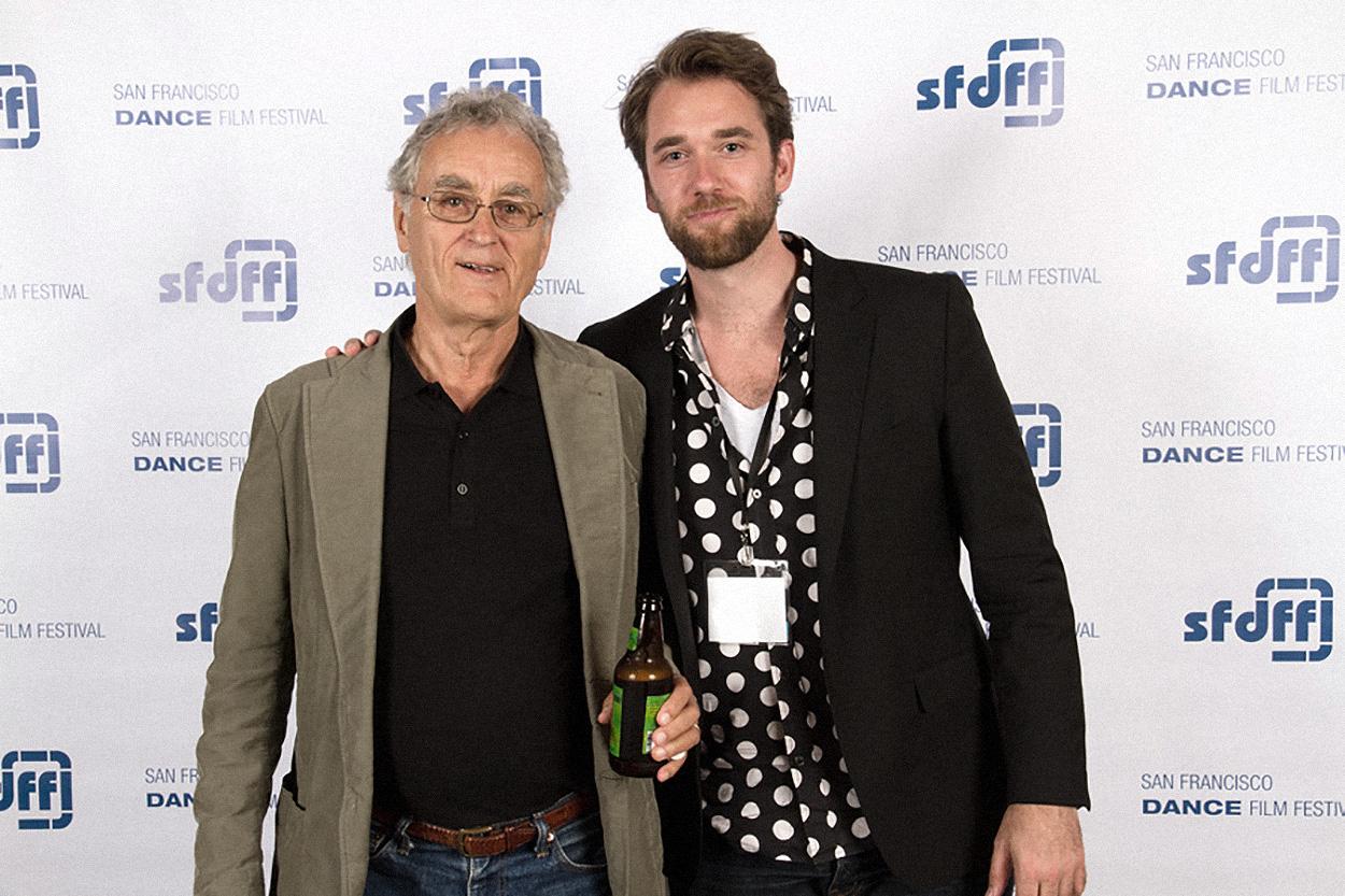 with Fritjof Capra at San Francisco film festival