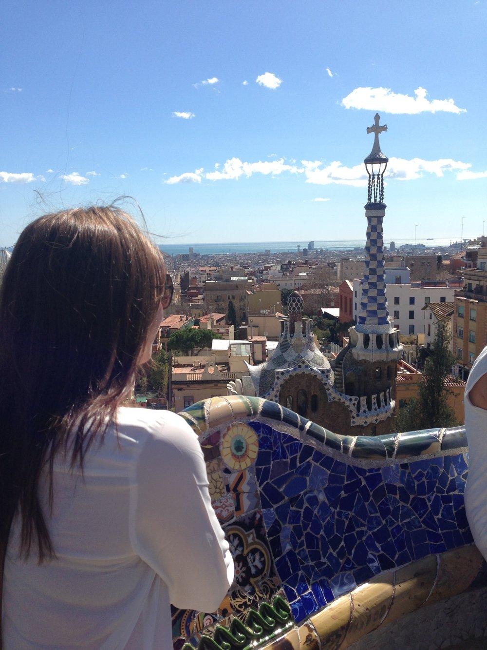 Looking over my favorite city - Barcelona, Spain