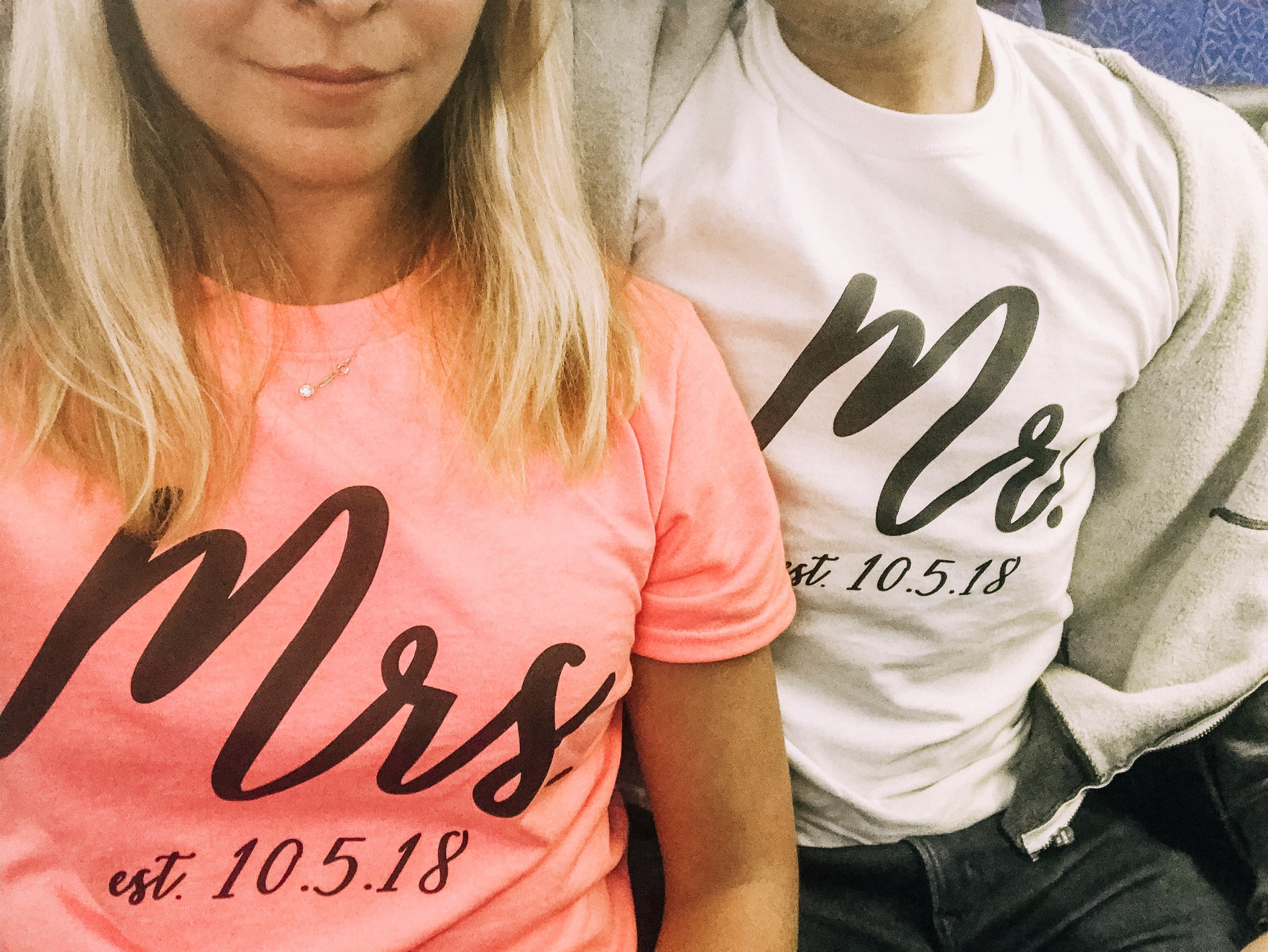 Oh did I mention, you can iron-on with Cricut?! Yes…I made these shirts for our honeymoon (amazon link below for iron-on vinyl)
