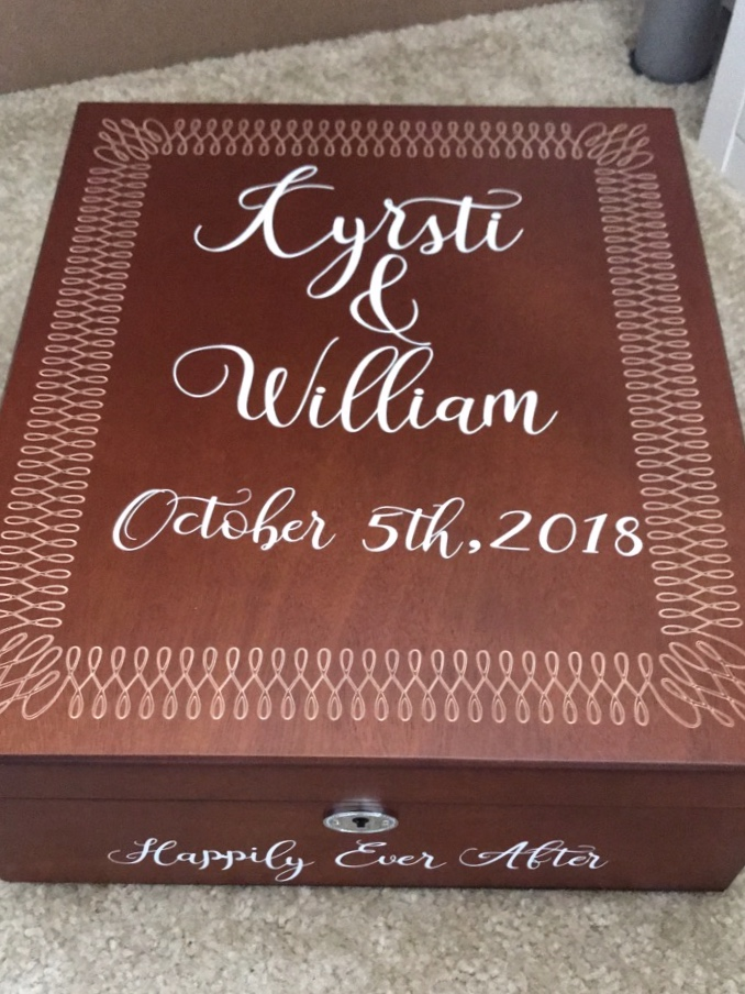 """we did a love letter wine box as our """"unity ceremony'"""" and I customized it. See link below to purchase the same one!"""
