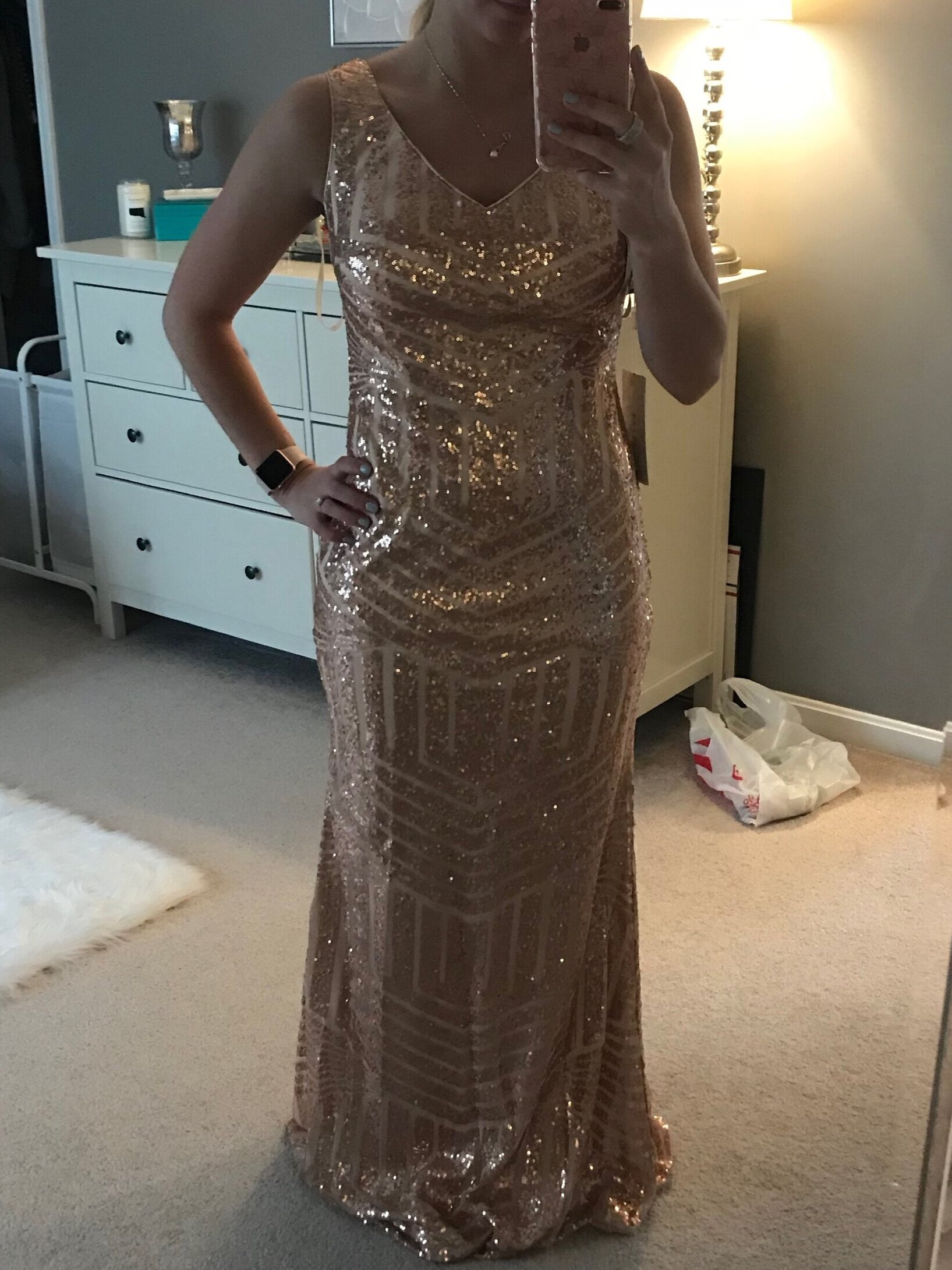 gold sequins bridesmaid dress - I tried this out as an option for my bridesmaids, and although I went a different route this one was GORGEOUS and only $75!