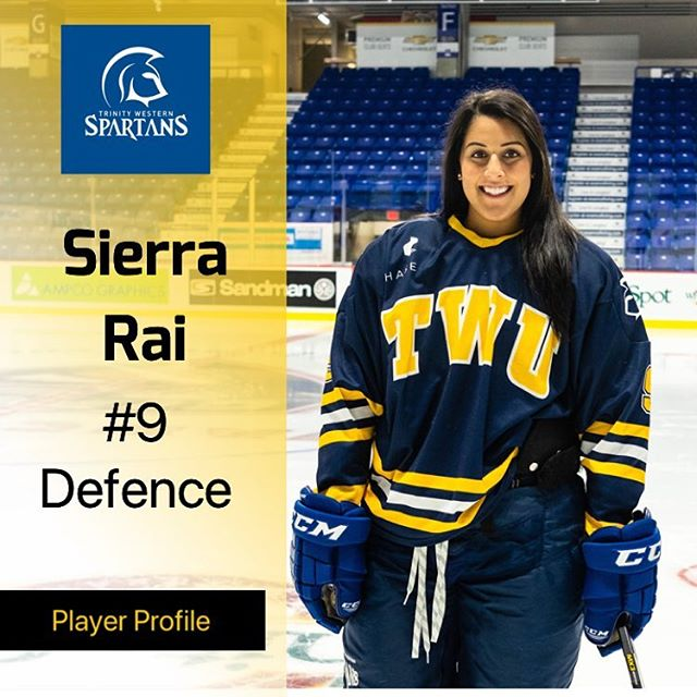 As the TWU Womens hockey Team plays there last regular season game this evening we highlight 3rd year Sierra Rai.  A recent grad from SFU in education, Sierra can be found dirt biking when not at the rink, not surprising... fun fact she has 27 screws in her face.  One of her best hockey memories is being able to play on Harvard University Ice.