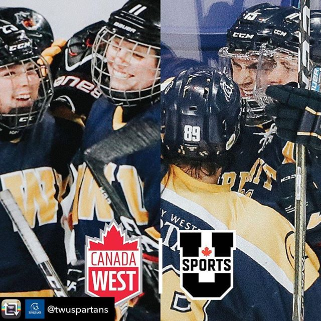 Repost from @twuspartans - It's an historic day for @trinitywestern! - Our Spartan men's and women's hockey teams will join Canada West and U SPORTS starting in 2020-21! - #WeAreAllSpartans