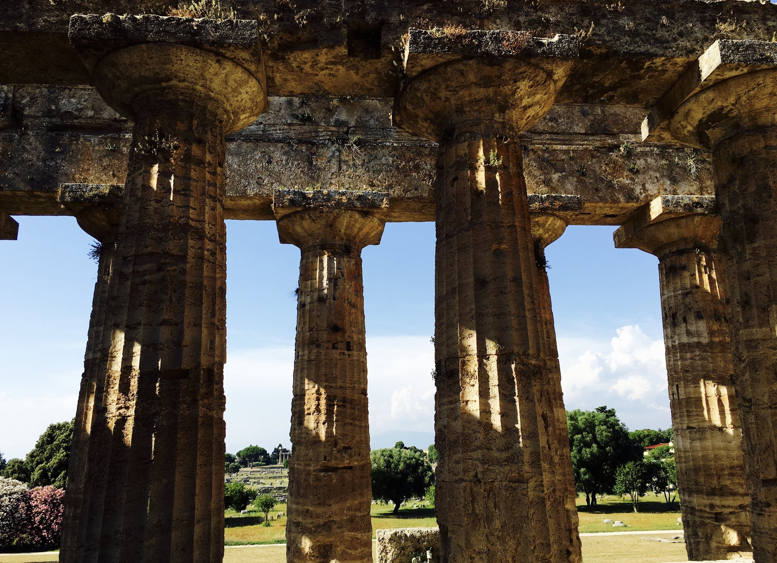 Temples at Paestum, Salerno, Italy.
