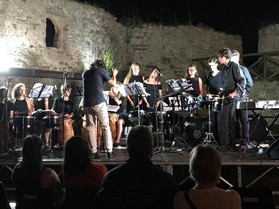 The closing concert at the Castle in Castellabate, Salerno, Italy.