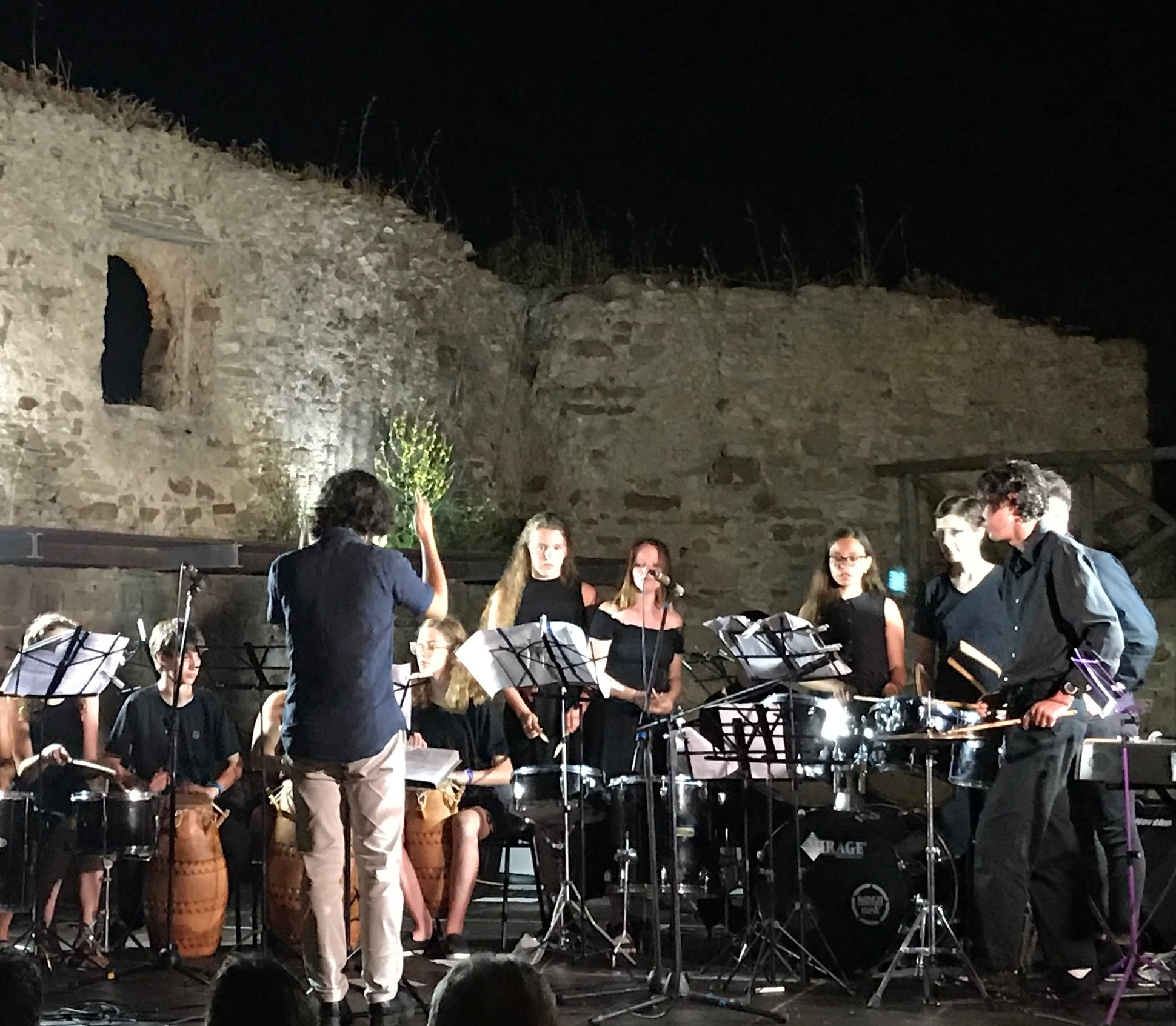 Closing concert at the Castle of Castellabate, Salerno, Italy.