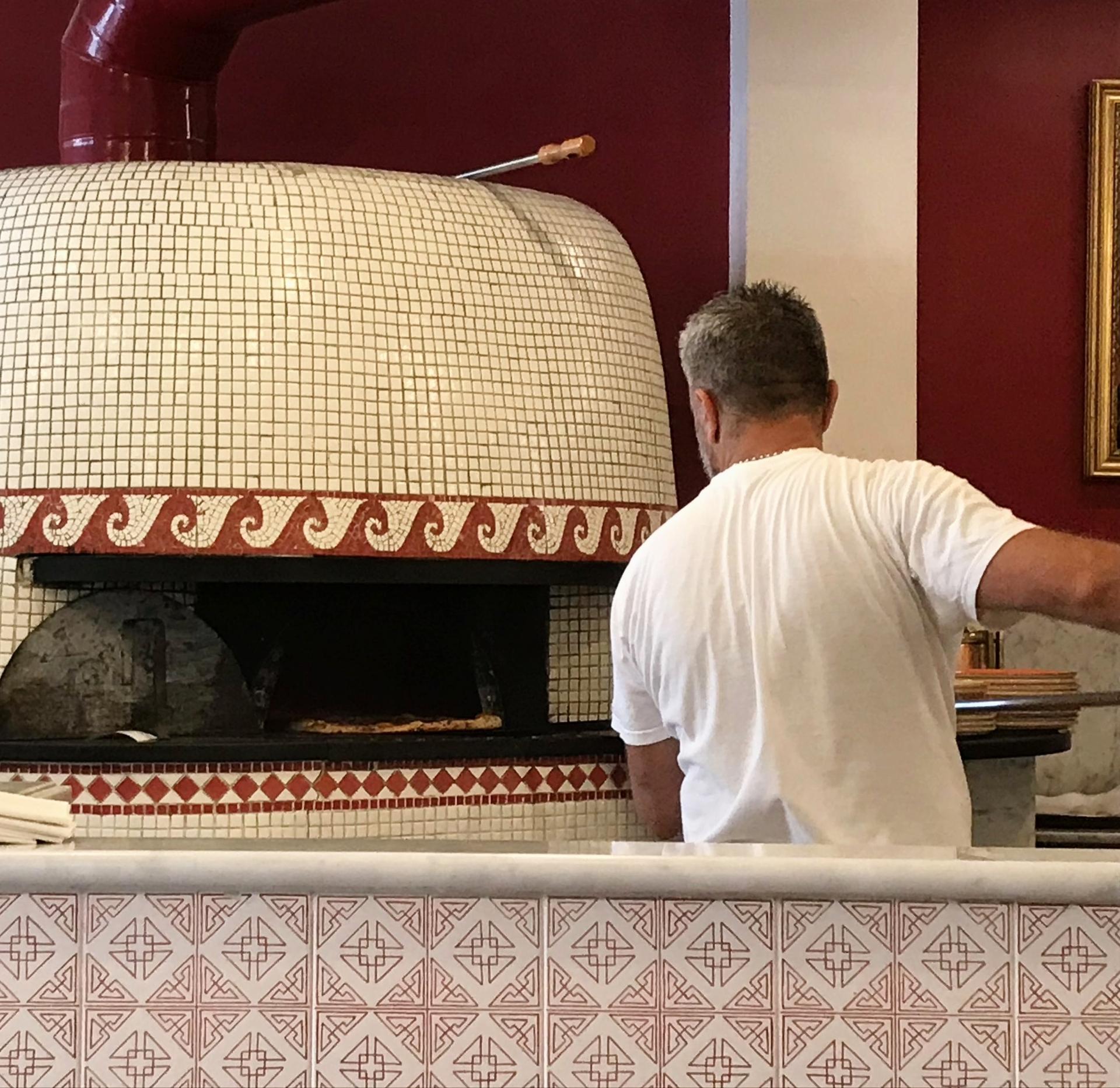 The pizza artist at work, Santa Maria, Italy.