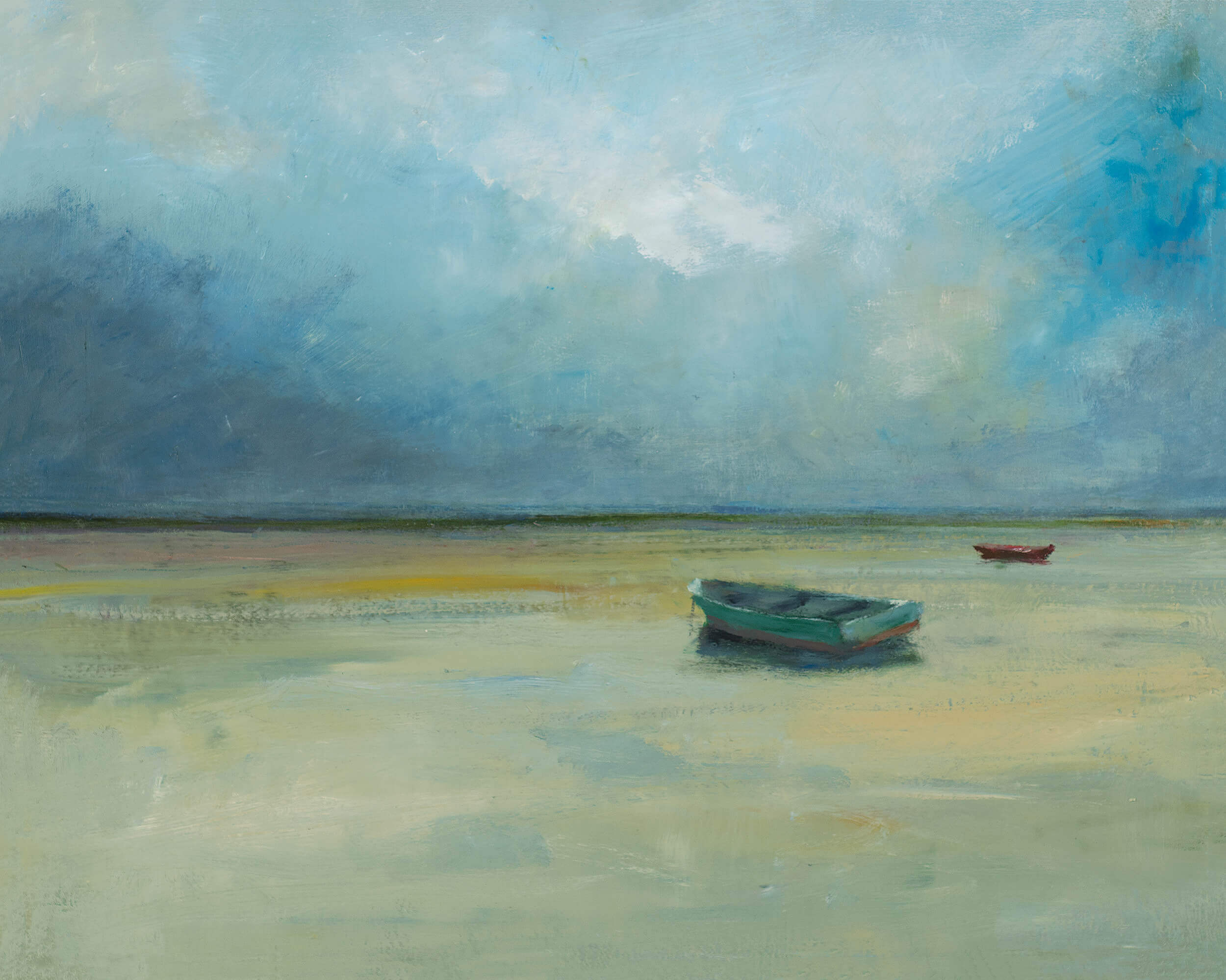 Turquoise Rowboat by Anne Packard
