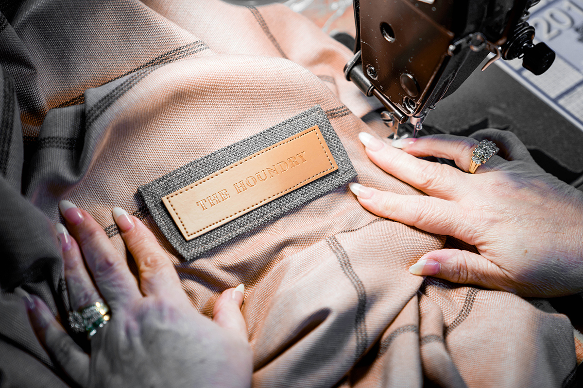 Made in the USA - AND Crafted by handAll of our beds are made to order right here in Georgia. Our skilled tailors take a single bed from start to finish, sewing the fabric body, the piping or flange details, zippers, and finally our branded label. We are so proud to work with these American artisans to bring our handmade products to life.