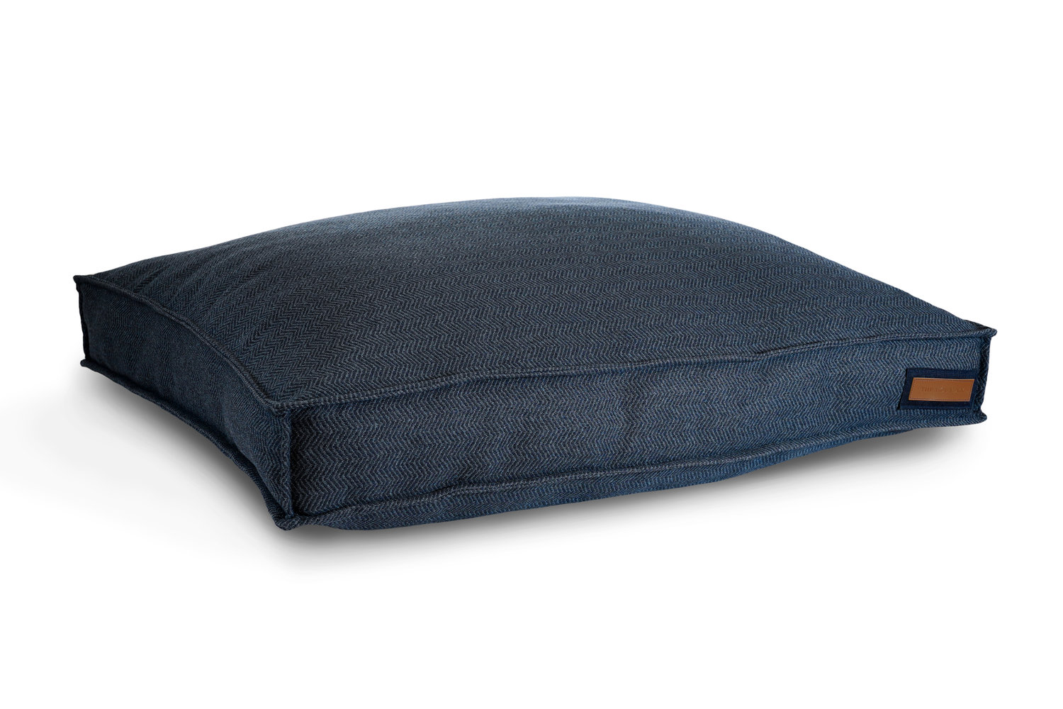 Lounger Cover Navy Herringbone