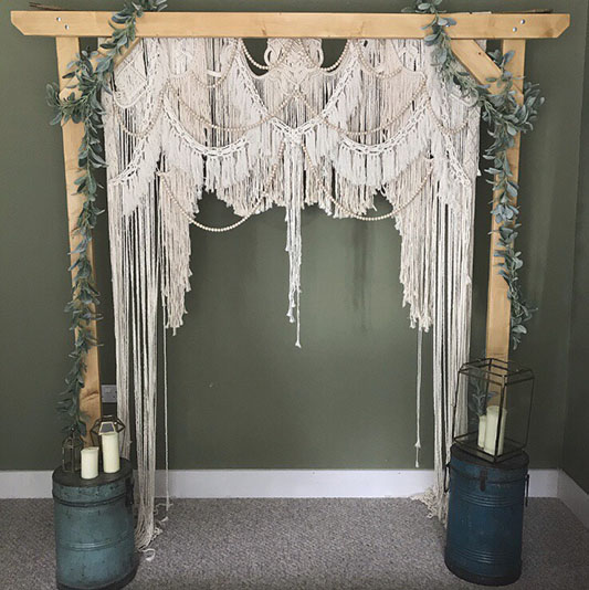Lovely Lot Of Knots  offers bohemian macrame decor.