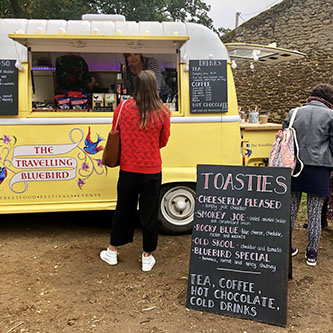 Gourmet toasties at  The Travelling Bluebird.
